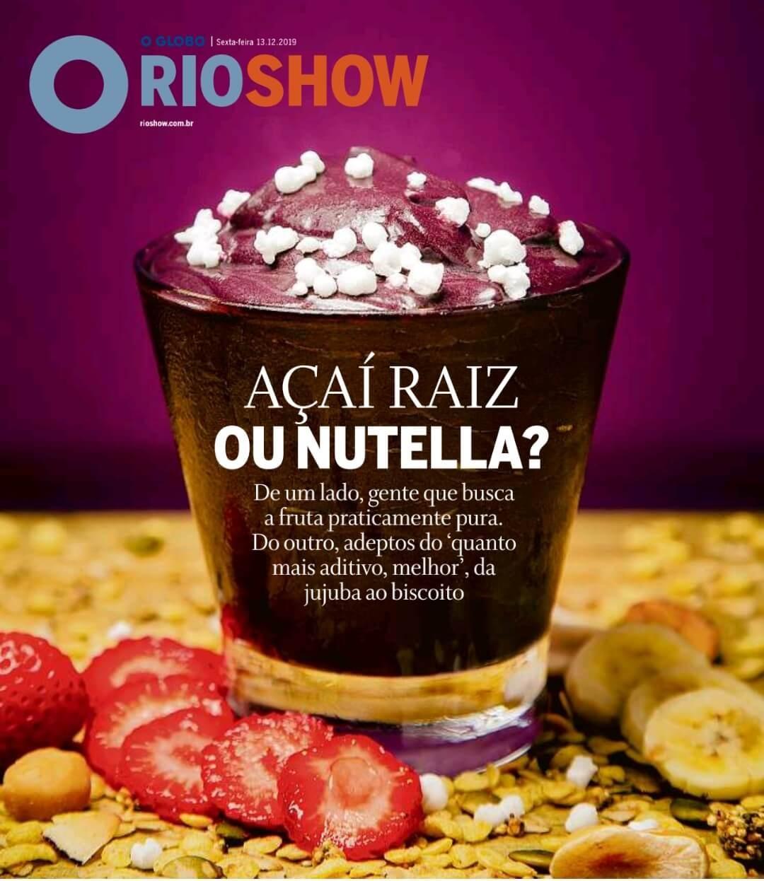 ASA Açaí na capa da RioShow O Globo